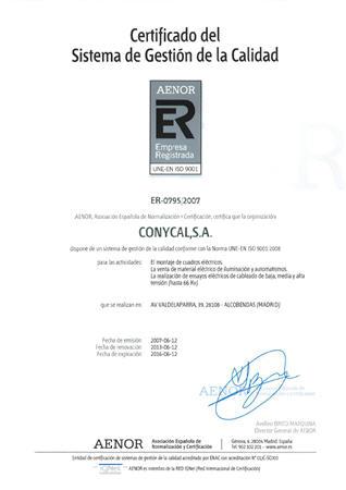 CONYCAL - ER 0795:2007 por AENOR