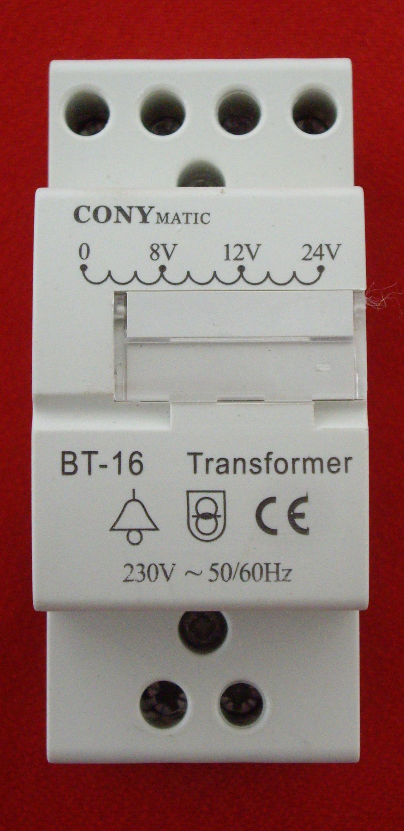 Transformador para timbre via-din (BT16).