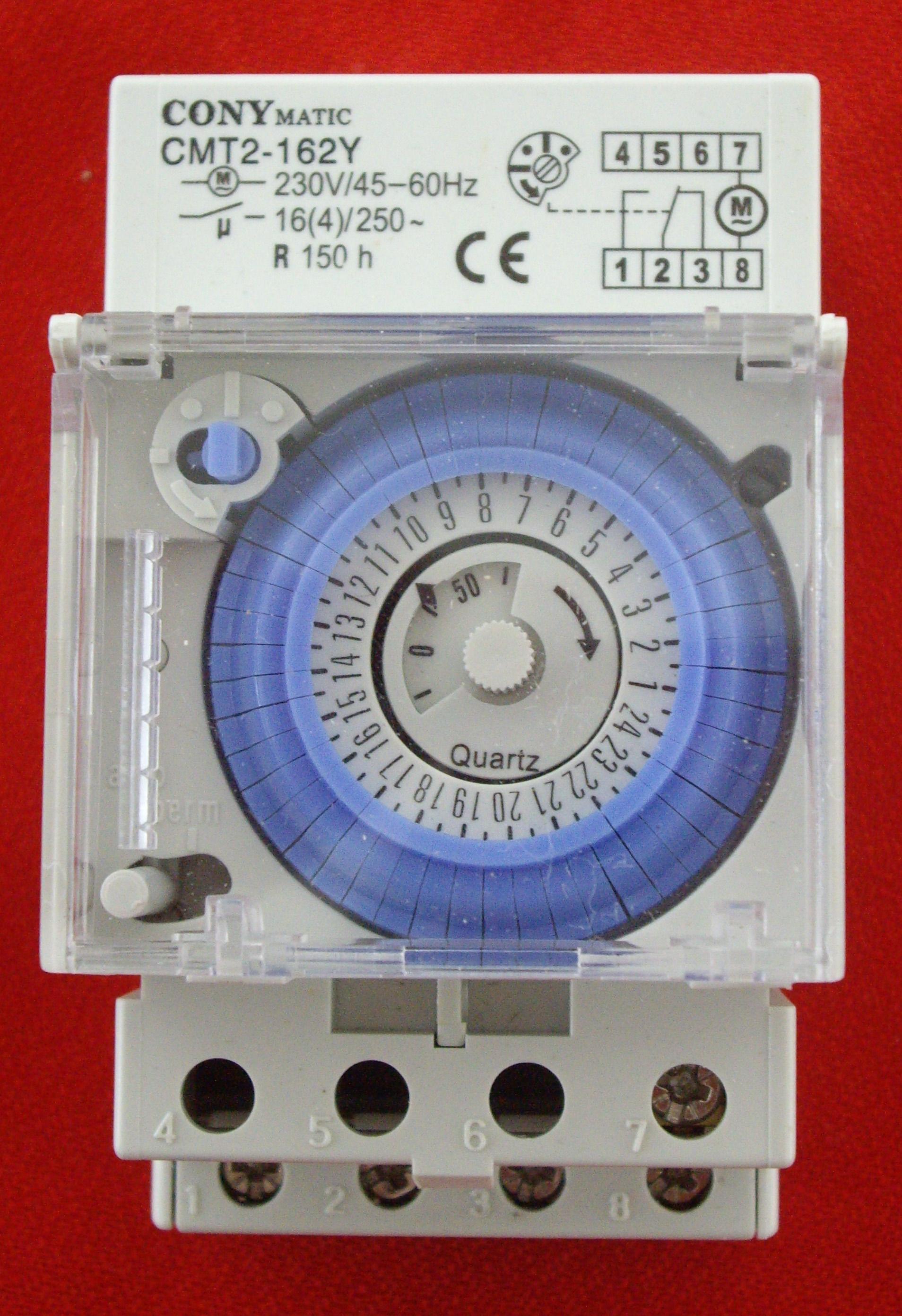 Interruptor horario analógico via-din (IH3M).