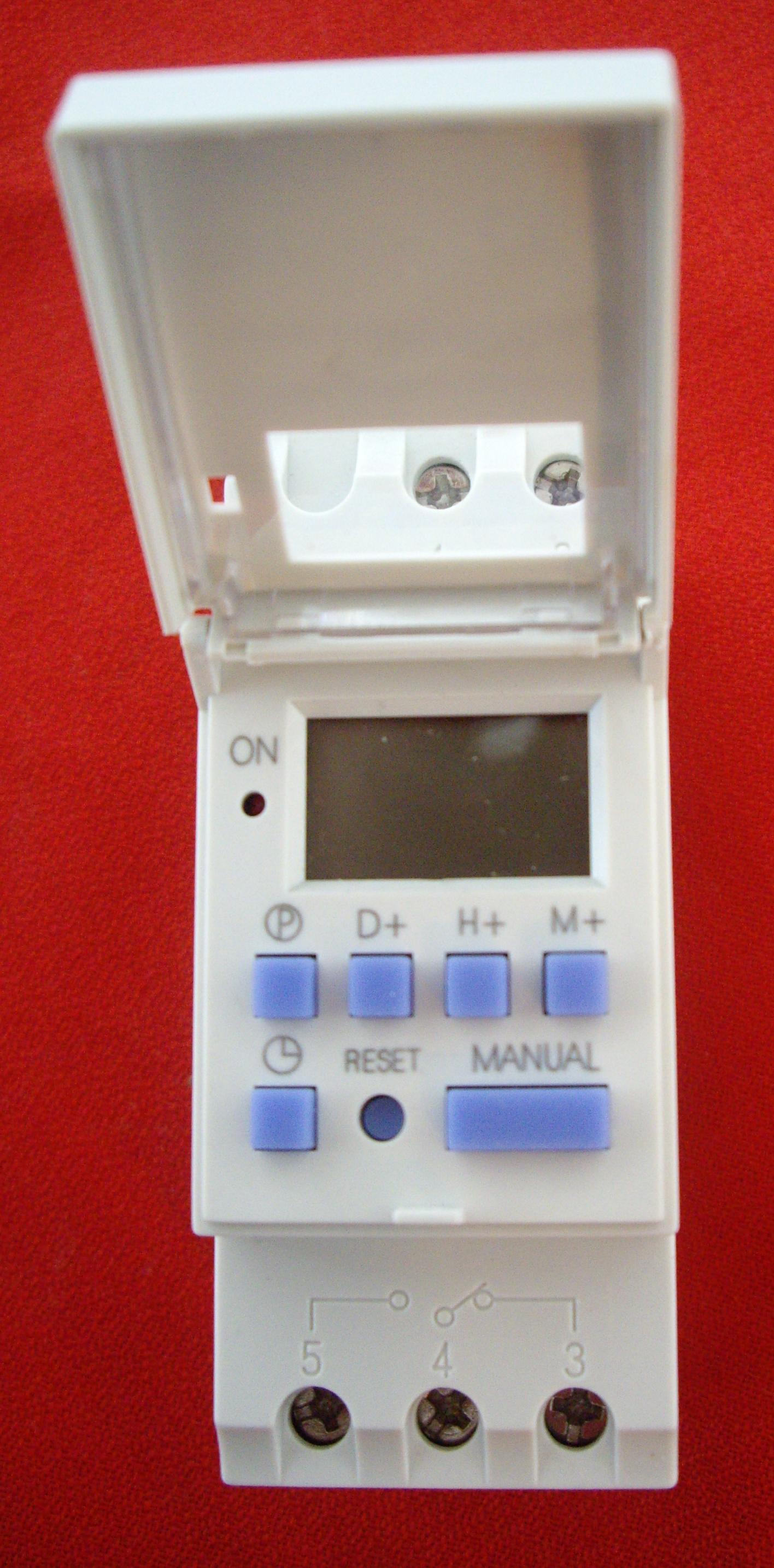 Interruptor horario digital programable via-din (IHP).