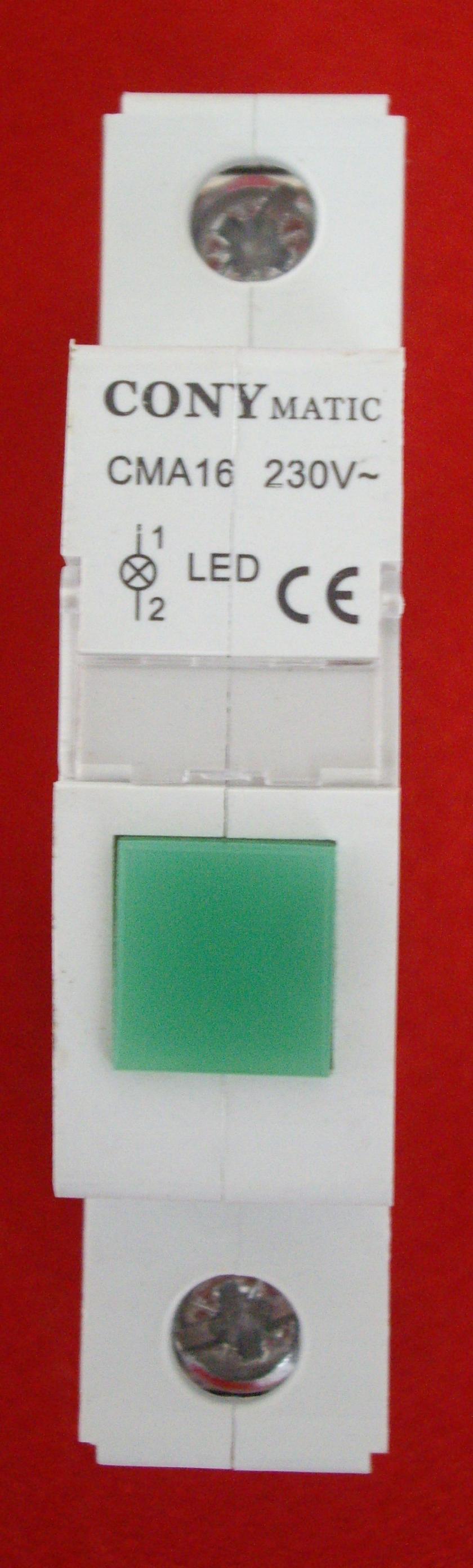 Lámpara de señalización verde, rojo o amarilla via-din (LV, LR y LA).