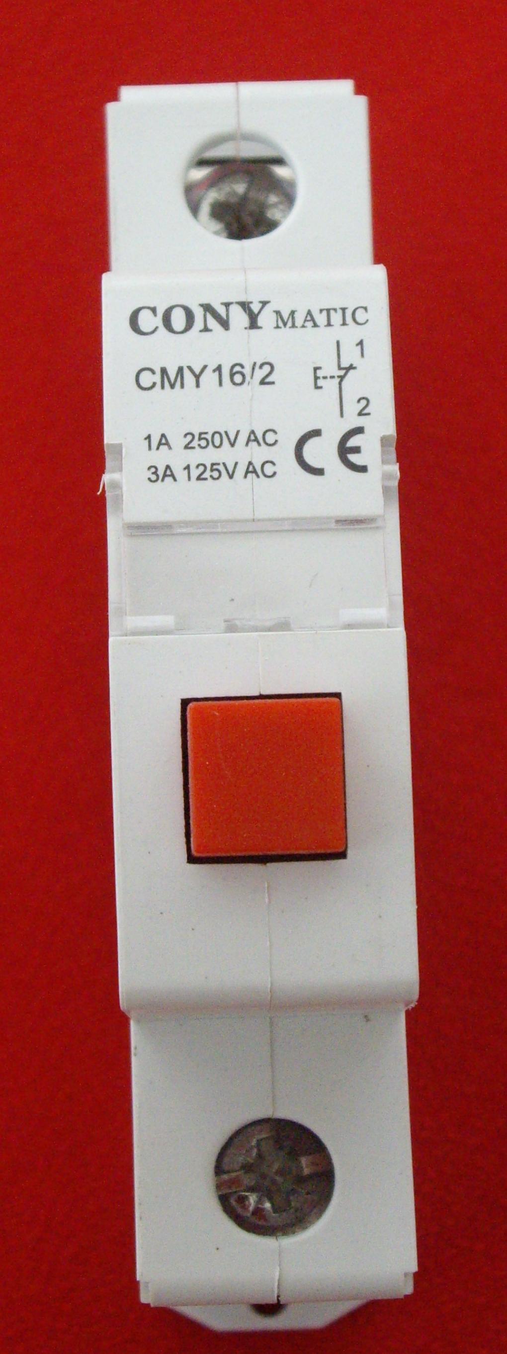 Pulsador rojo o verde via-din (PR y PV).